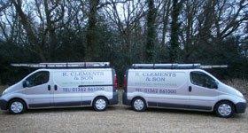 R. Clements electrical vans
