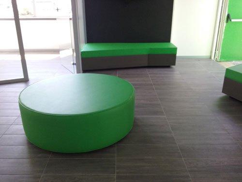 arredamento in legno verde minimal