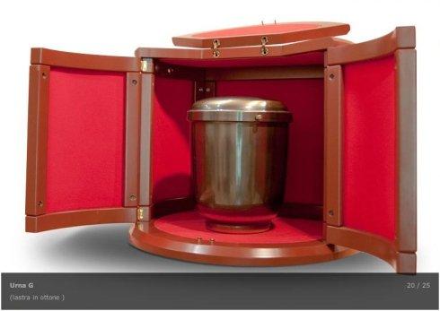 urne in ottone, urne rettangolari, urne a cilindro