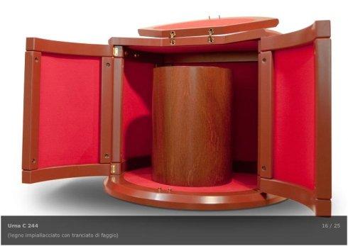 urne cinerarie a scelta, fornitura cofani in legno, articoli funerari