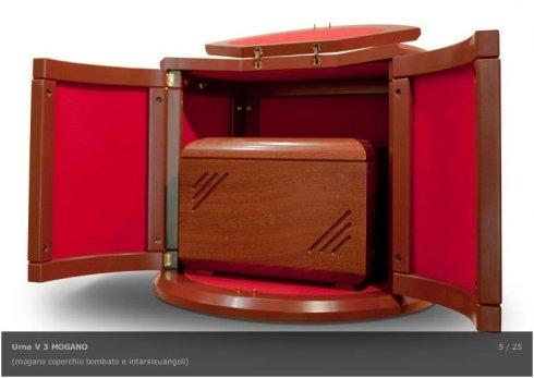 urne in legno di mogano, urne con intarsi