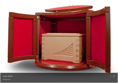 urne in legno scolpito, urne per ceneri