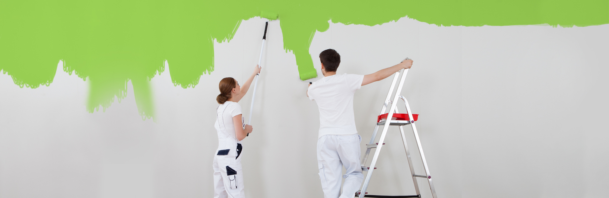 Professionals painting the wall in Milford, OH