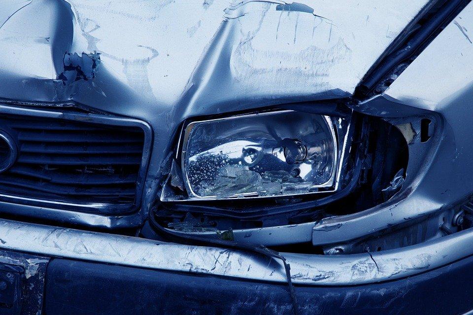 Car Crashed Headlight