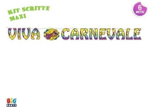 kit scritte maxi carnevale