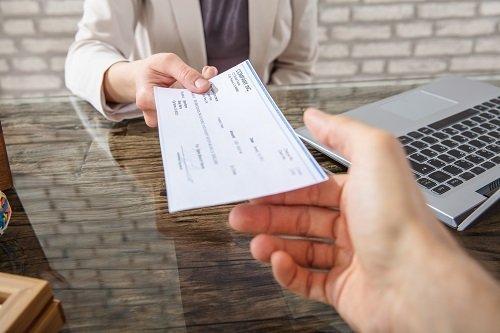 risarcimento danni con assegno