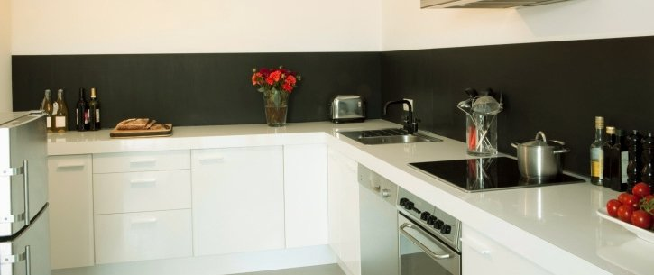 Installed kitchen splashbacks in a Tasmania kitchen