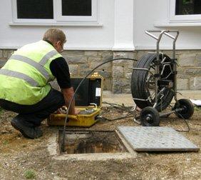 Drain having a CCTV survey undertaken