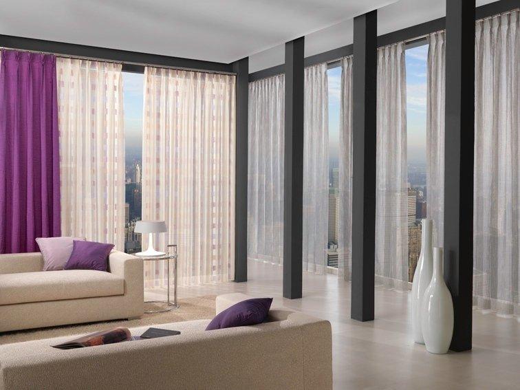 Tende da interno arricciate como idea casa for Interni case bianche