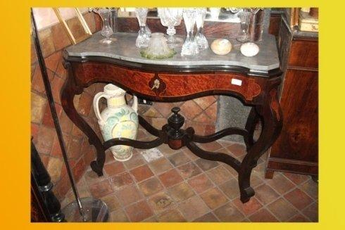 tavolino  in legno di palissandro con cassetto antico