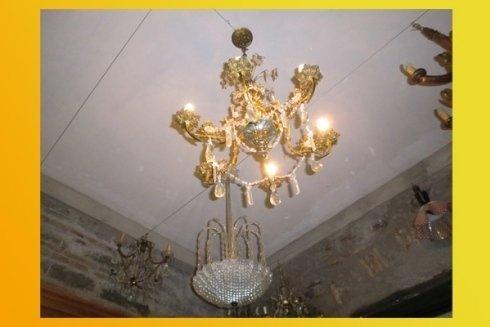 lampadario dorato