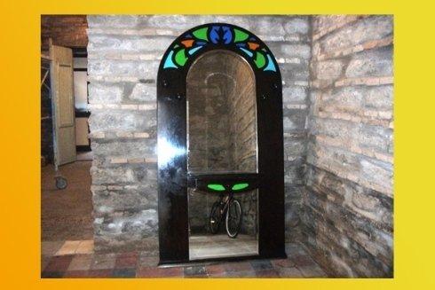 specchio antico in vetro di Murano