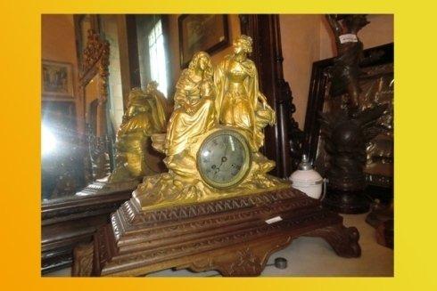 Orologio in bronzo dorato Francia Carlo X antico