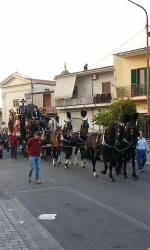 Una carrozza di cavalli