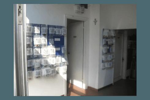 corridoio di sede negozio di assistenza caldaie