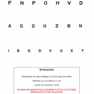 Test ottotipo per vicino