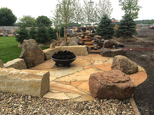 outdoor fire pit areas