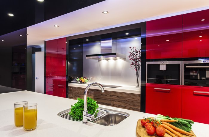 Residential kitchen interior view