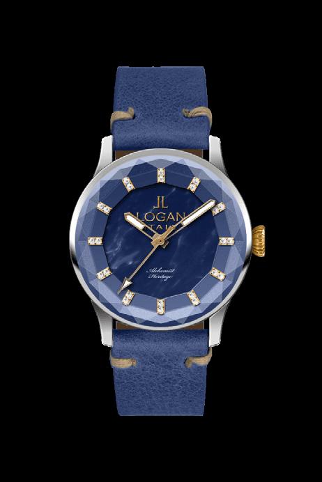 orologio Logan con cinturino blu e rosso