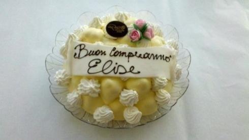 torta con dedica al cioccolato