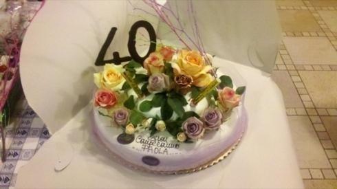 torta compleanno per quaranta anni