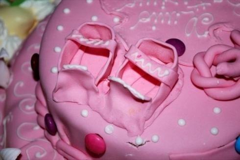 torta di battesimo per bambine