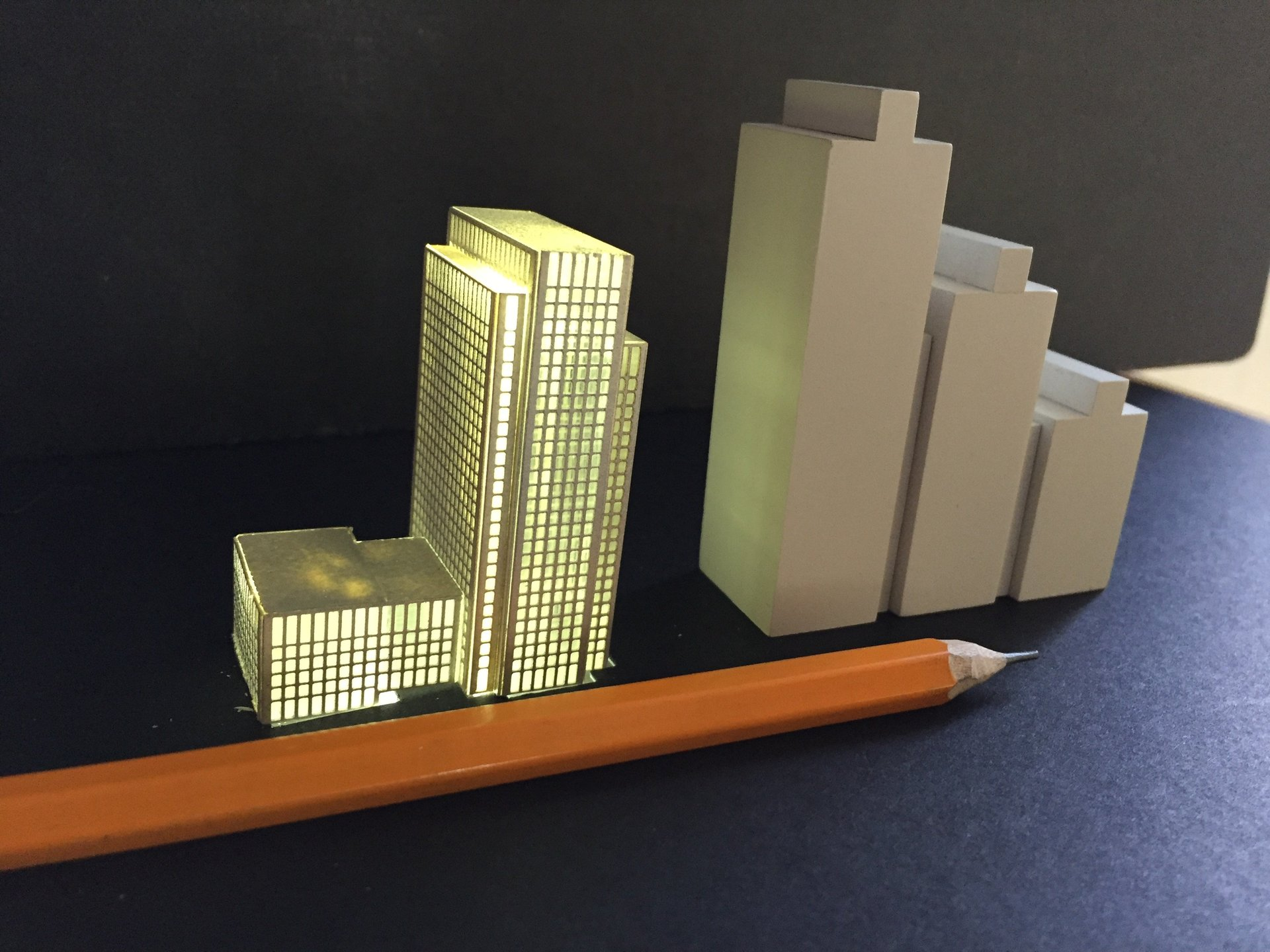 1:3000 scale, Canary wharf model