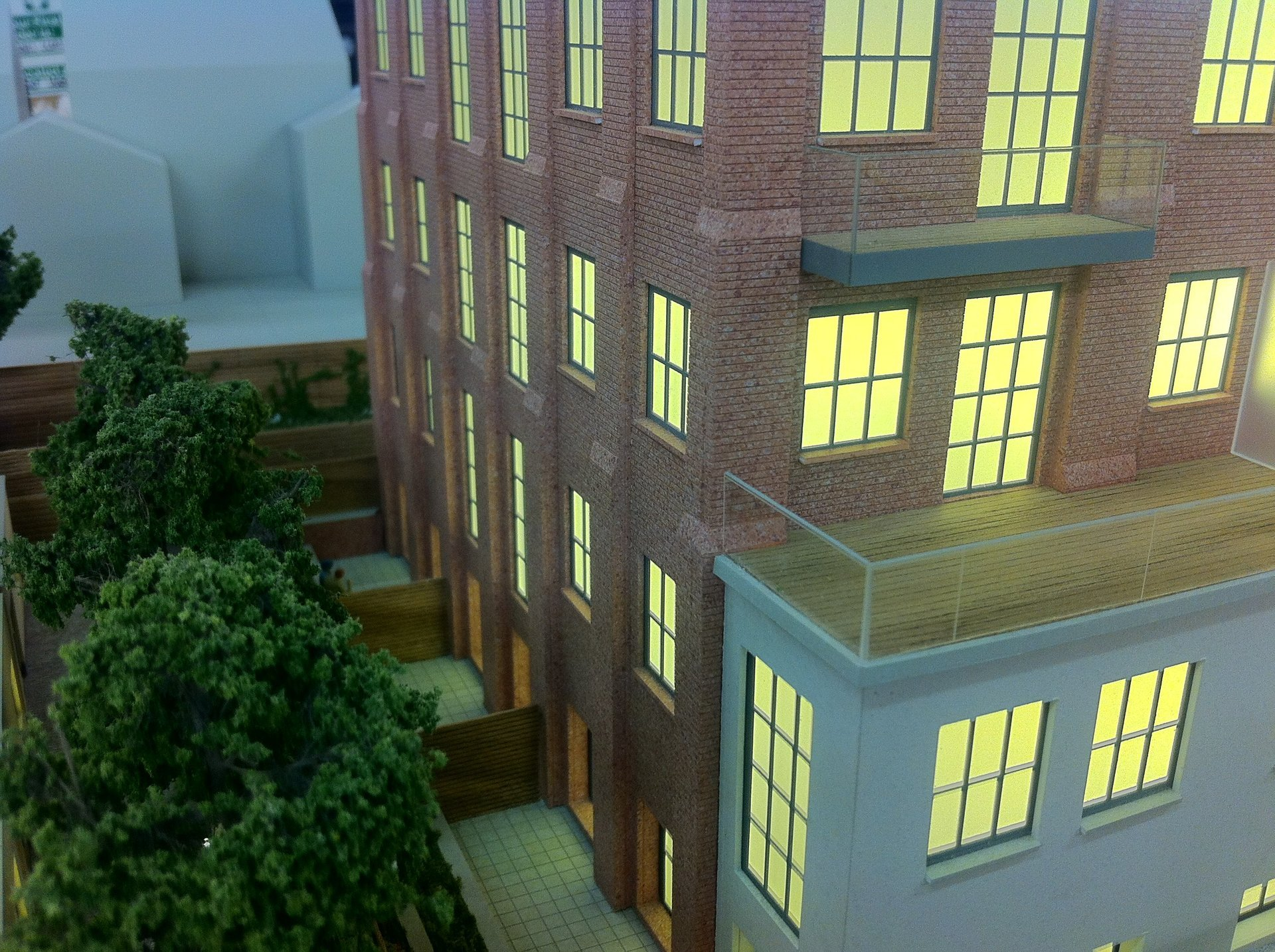 Architectural Model LED lighting close up
