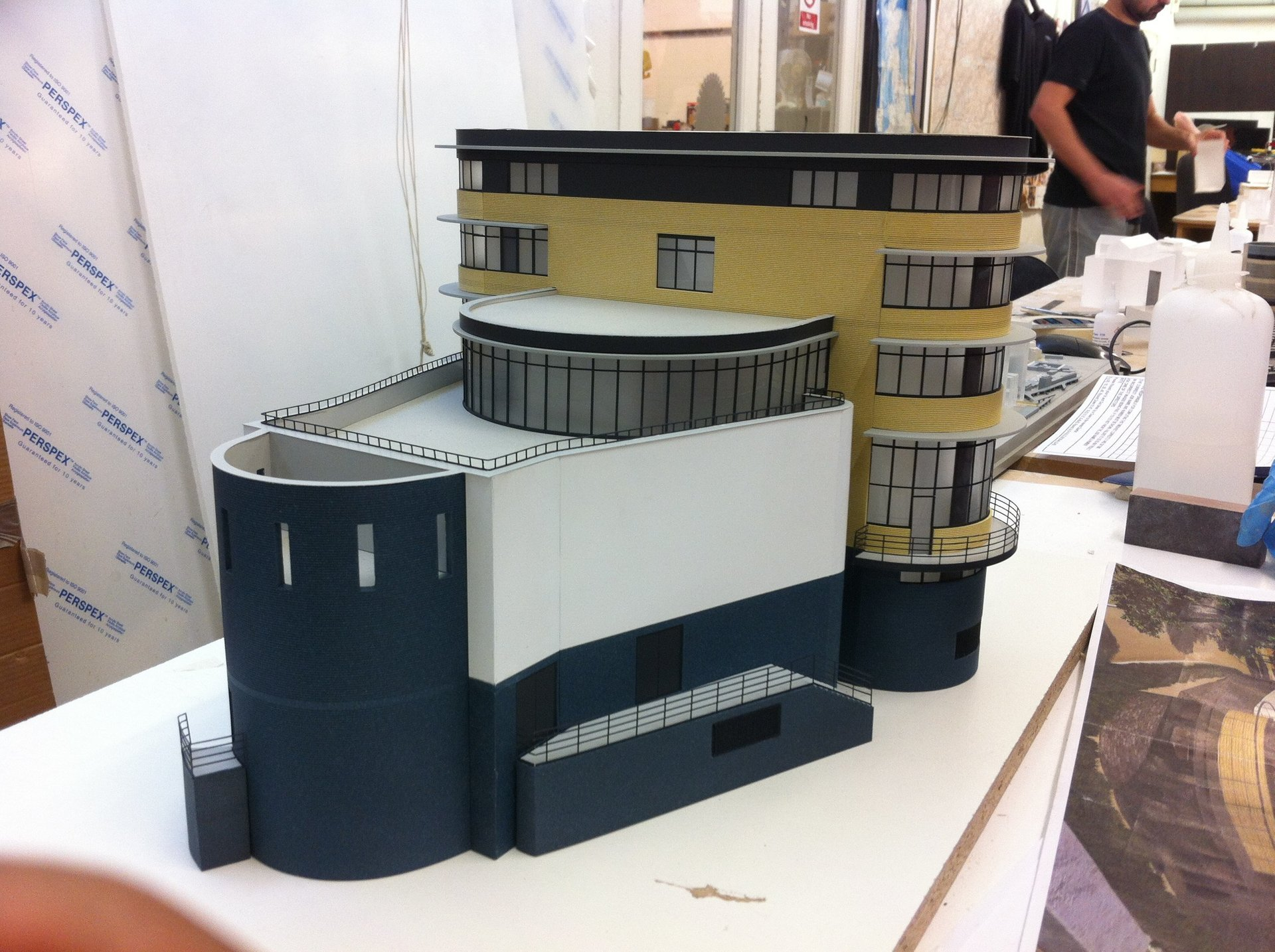 Architectural Model curved building