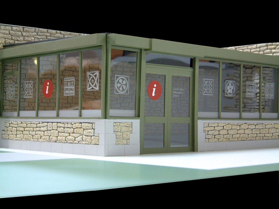 Architectural Model Glass engraving  shop 1:50 scale