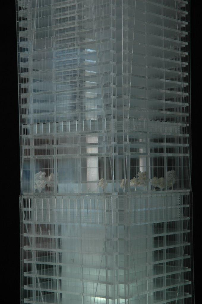Architectural Model tower close up