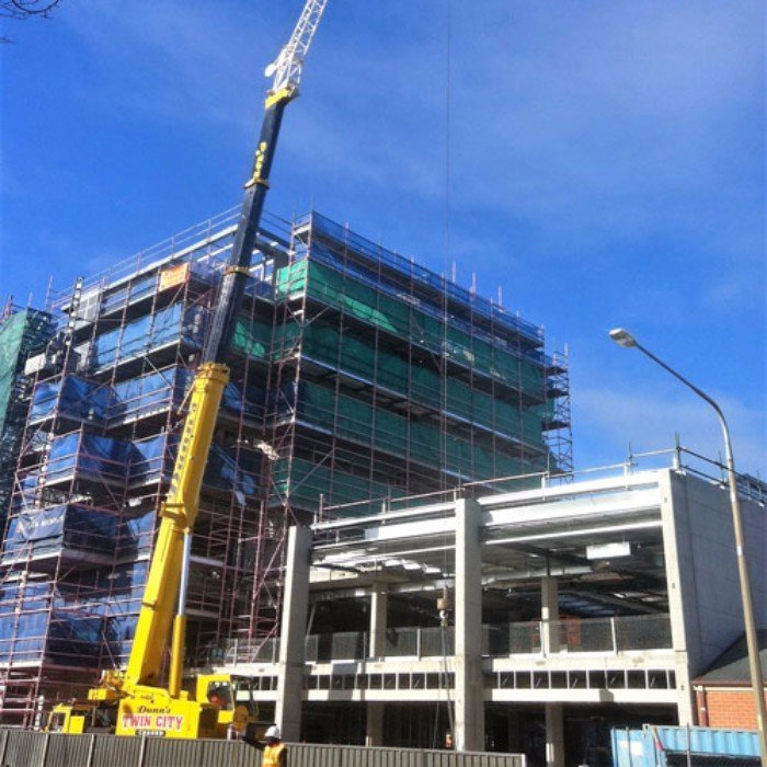 Our commercial crane hire services in action in Albury