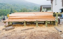 fornitura travi legno