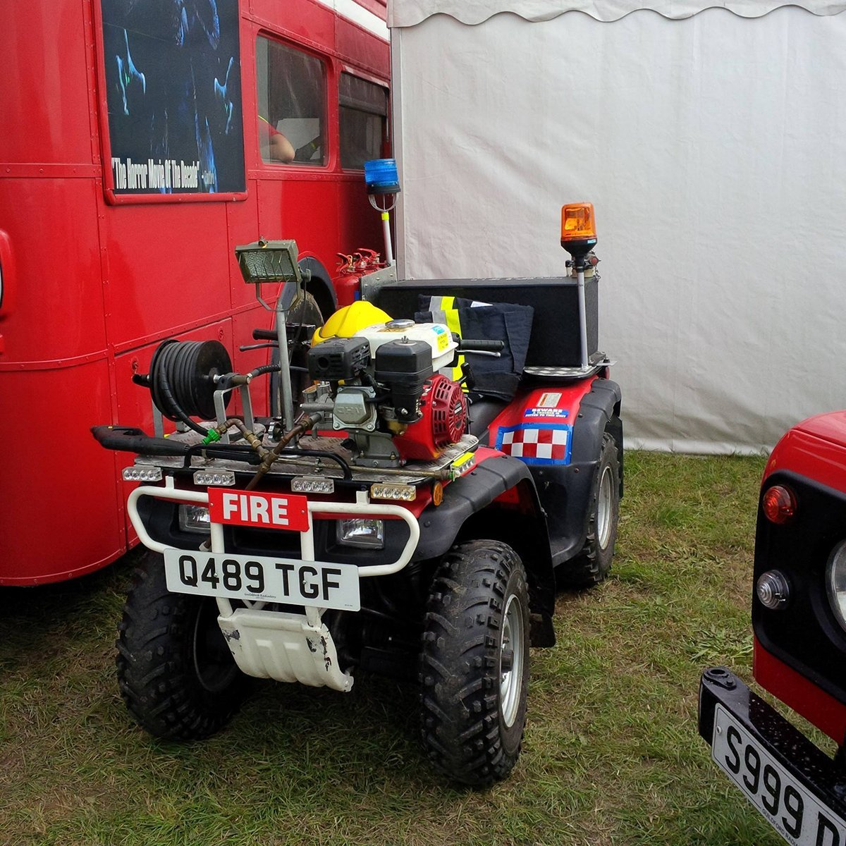 red colour defence vehicles