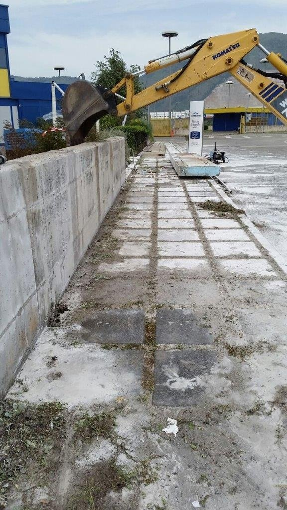Taglio ed asportazione di pareti in C.A.