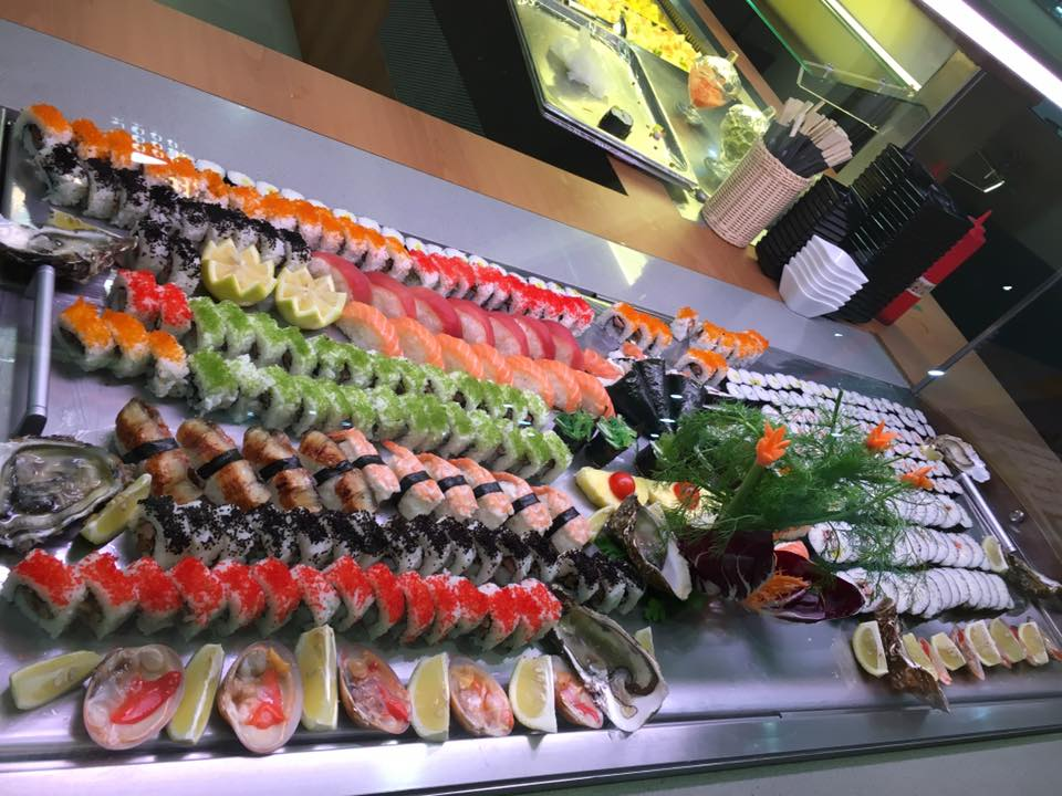 buffet di sushi vario tipo