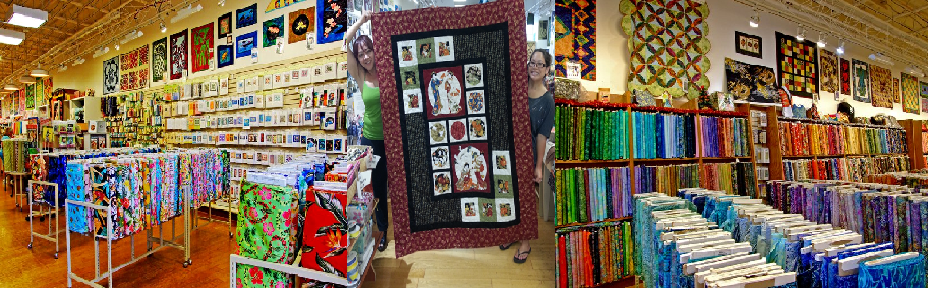 Fabrics and textile supplies at our quilting store in Kahului, HI