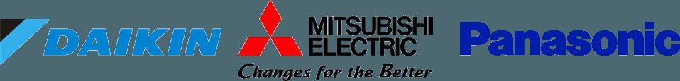 Daikin, Mitsubishi Electric, Panasonic
