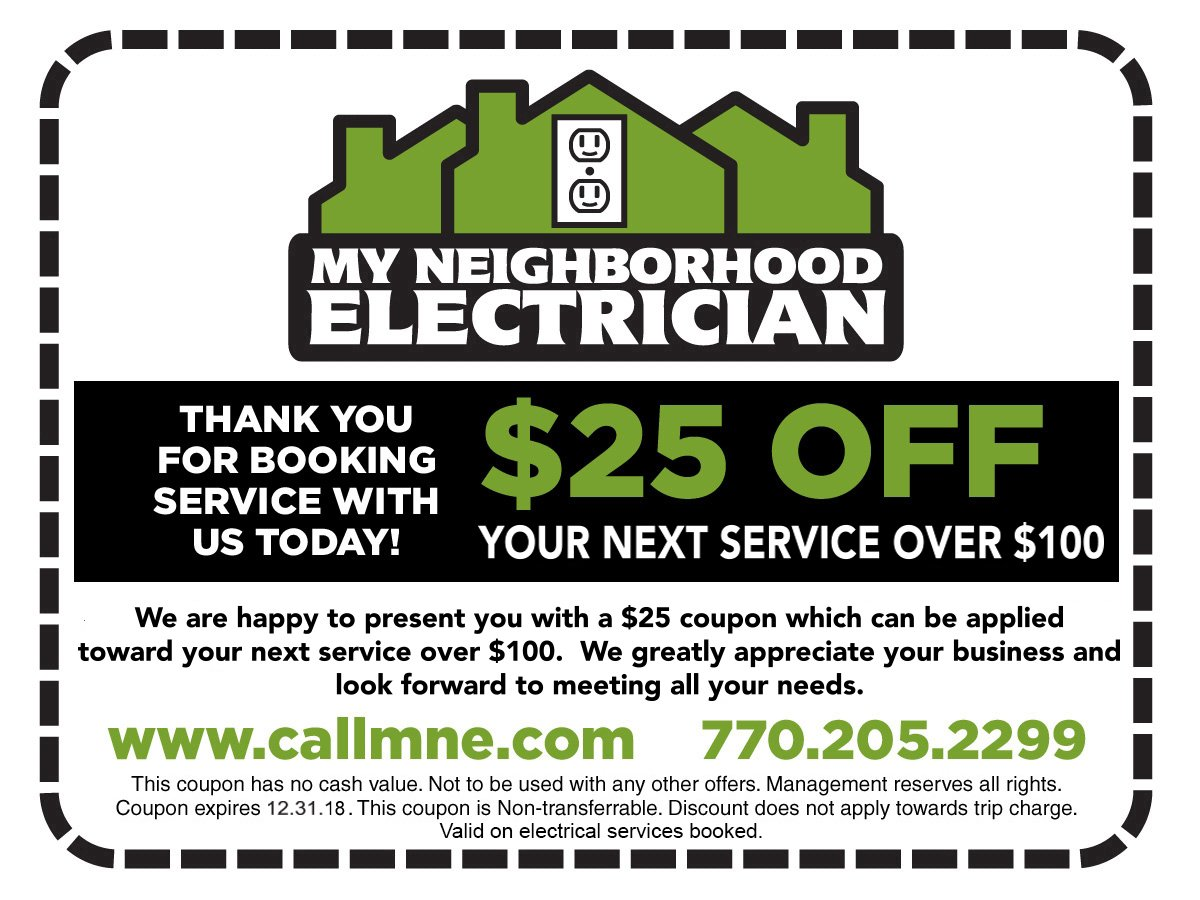 Electrical Services Discount Coupon
