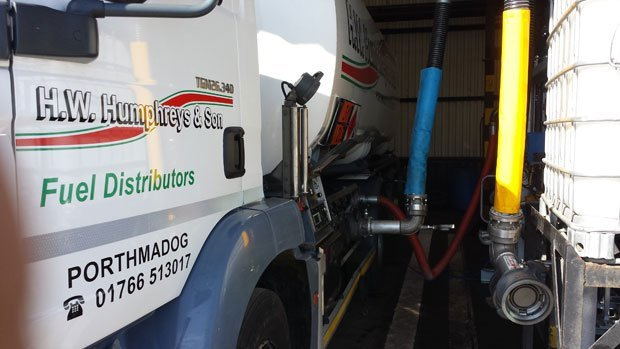 Refilling one of the H W Humphreys tankers