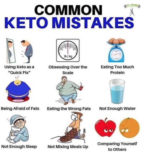 common keto diet mistakes