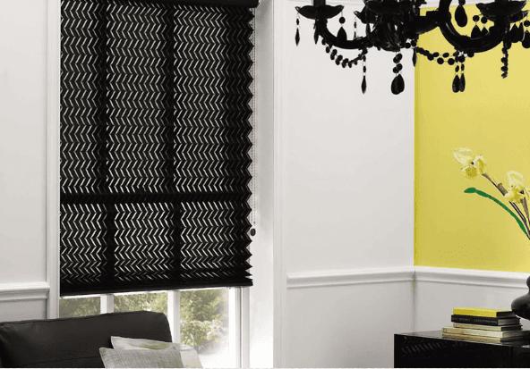 blinds on black windows