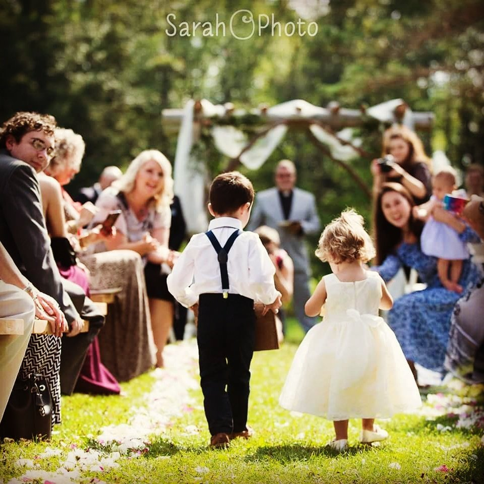 Ringbearer and flower girl at rosebud
