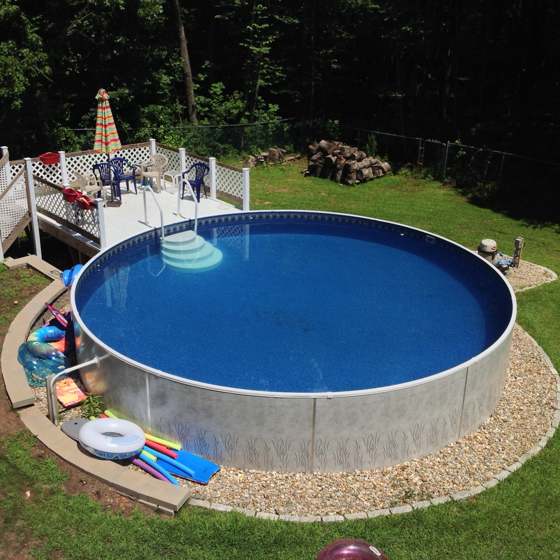 how to build an above ground swimming pool with bricks
