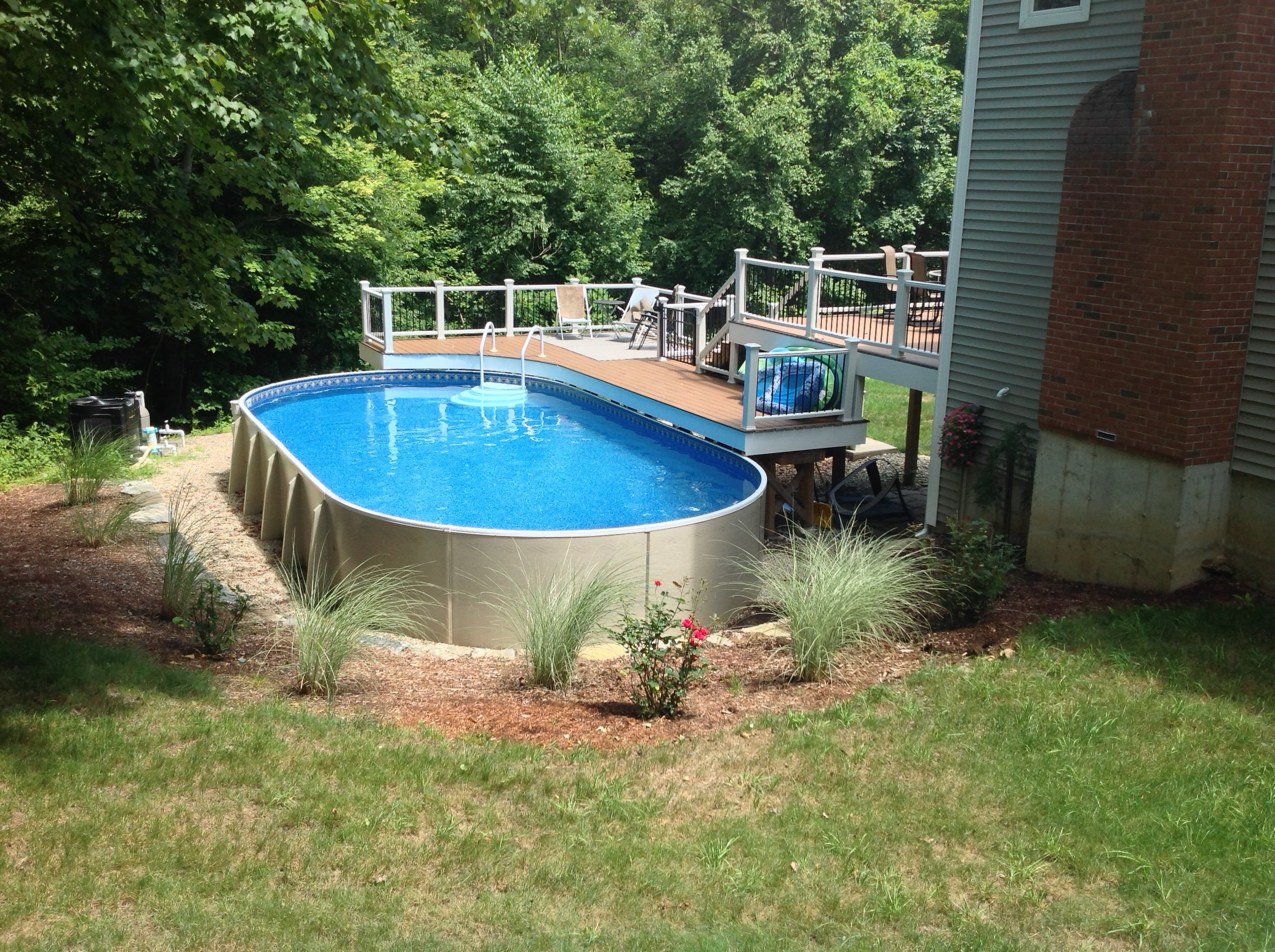 Radiant above ground pools round designs for Swimming pool installation companies