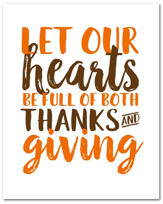 count your blessings and be thankful