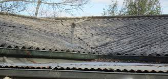 dirty asbestos roof