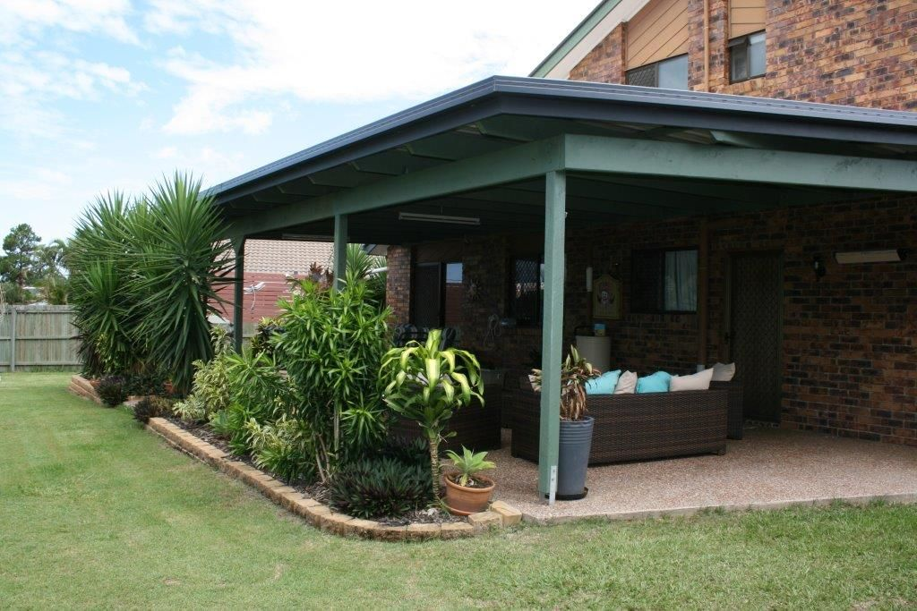 covered backyard patio alternate view