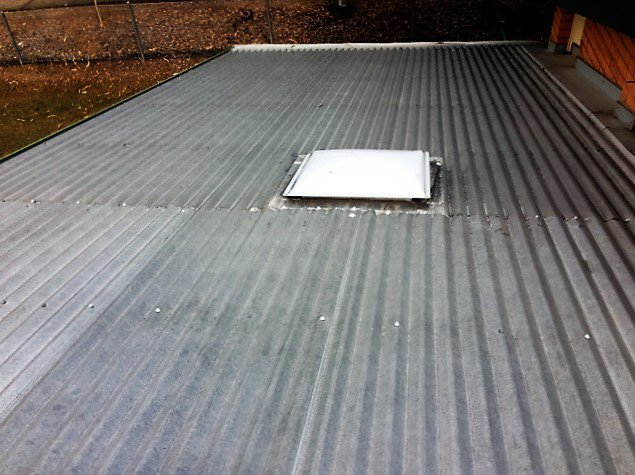 skylight on sheet metal