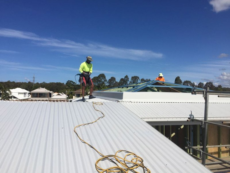 quick roofing project
